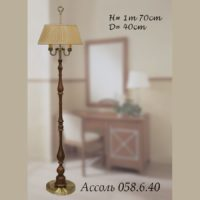Торшер на две лампочки 058-6-35/2 F Ассоль