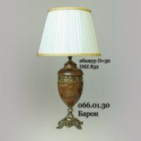 Настольная лампа кабинетная 066.01.30 Барон антик