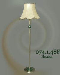 Торшер с камнем 074.1.48F Индия абажур