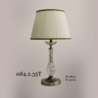 Настольная лампа с хрустальной ножкой 084.2.35Т классика
