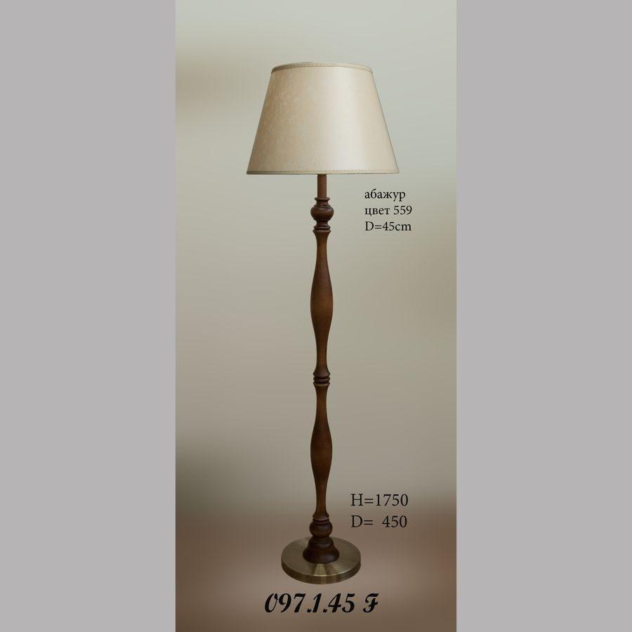 Торшер деревянный 097.1.45F