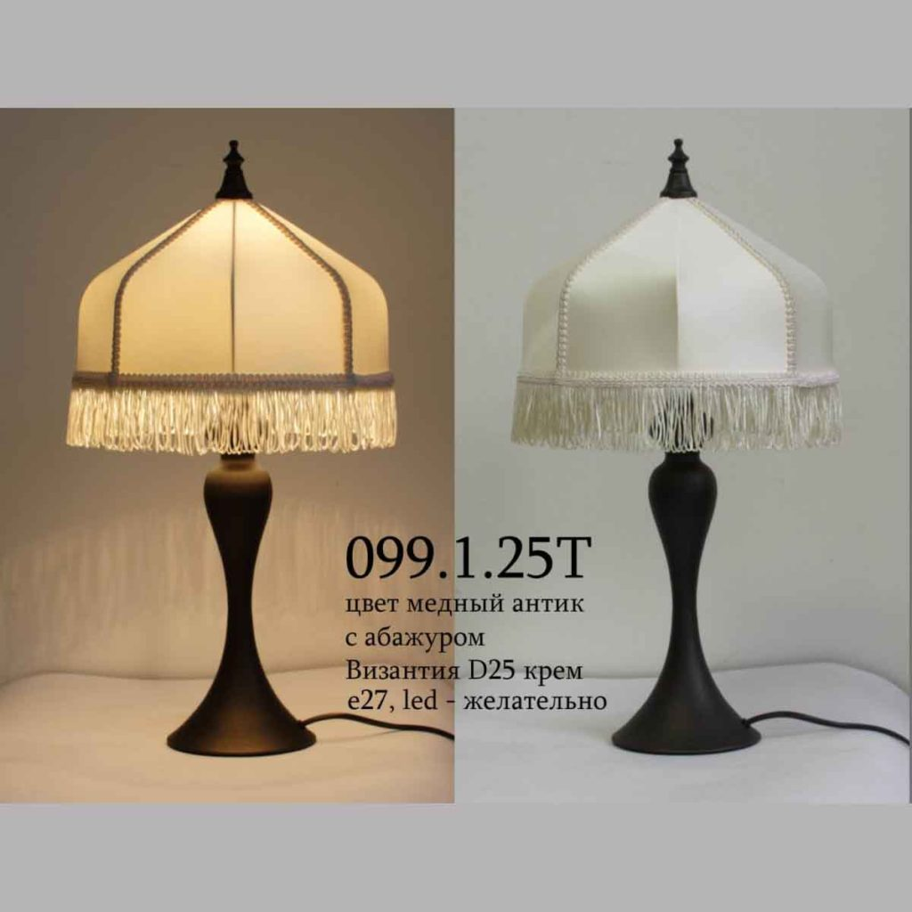 Настольная лампа классика 099.01.25 абажур Византия