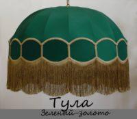 Абажур Тула зеленый-золото