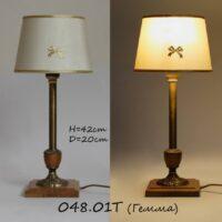Настольная лампа с бронзой 048.01 Гемма