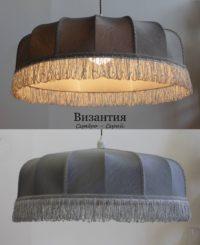 Абажур Византия 1 серебро-серый