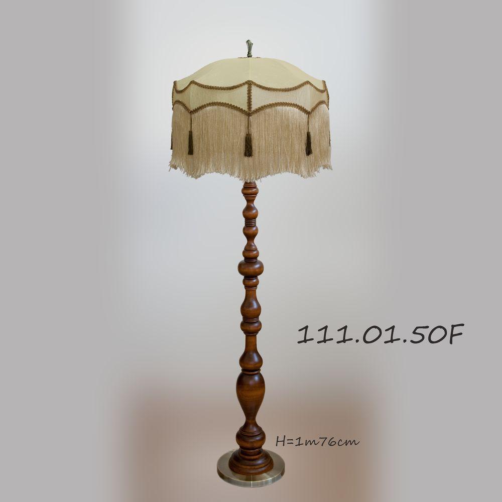 Торшер деревянный с ретро абажуром 111.01.50F Парма