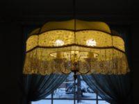 Подвесной абажур с металлическим декоративным каркасом П177.03