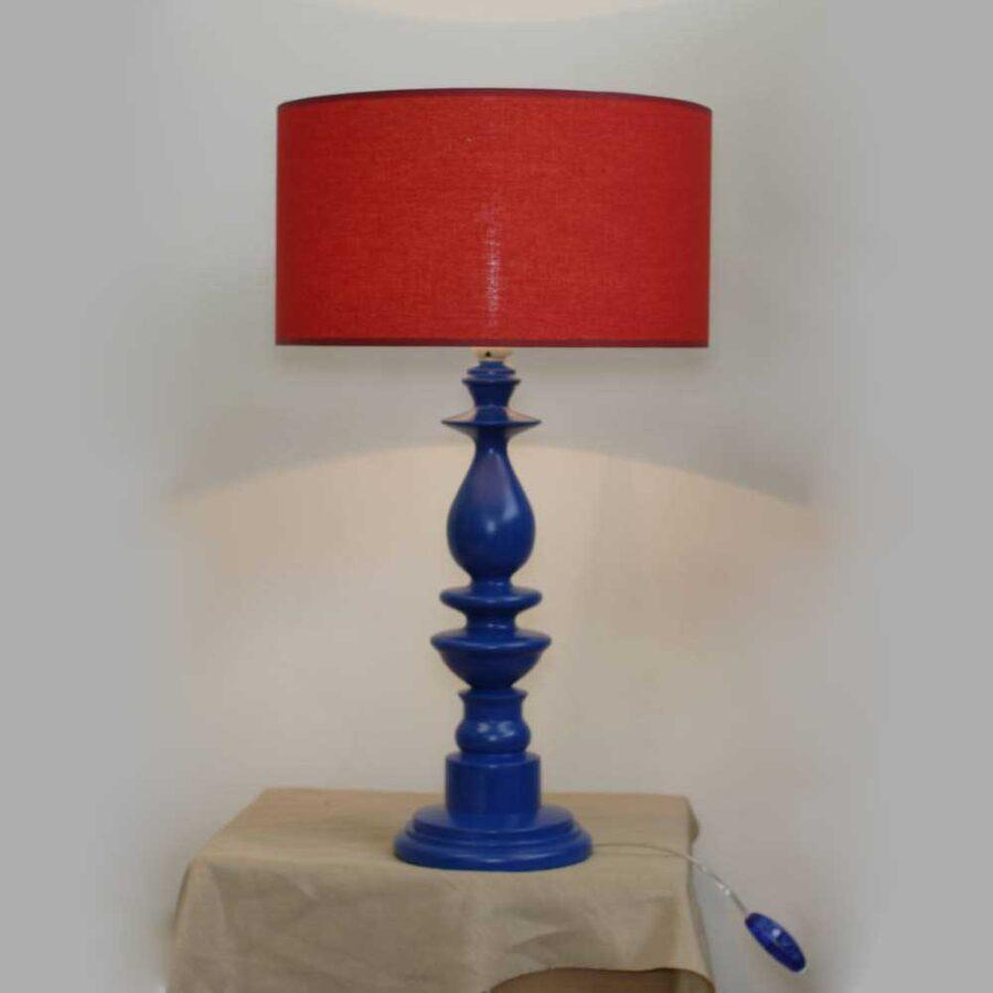 Деревянная лампа с абажуром 120.01Т