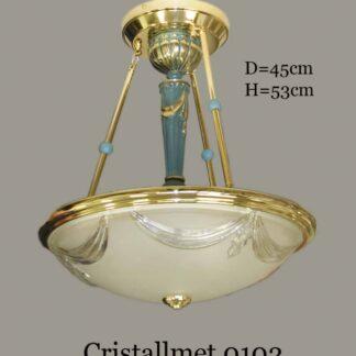 Люстра классическая из латуни 8050/40