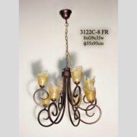 Люстра с плафонами для кухни 3122С-8