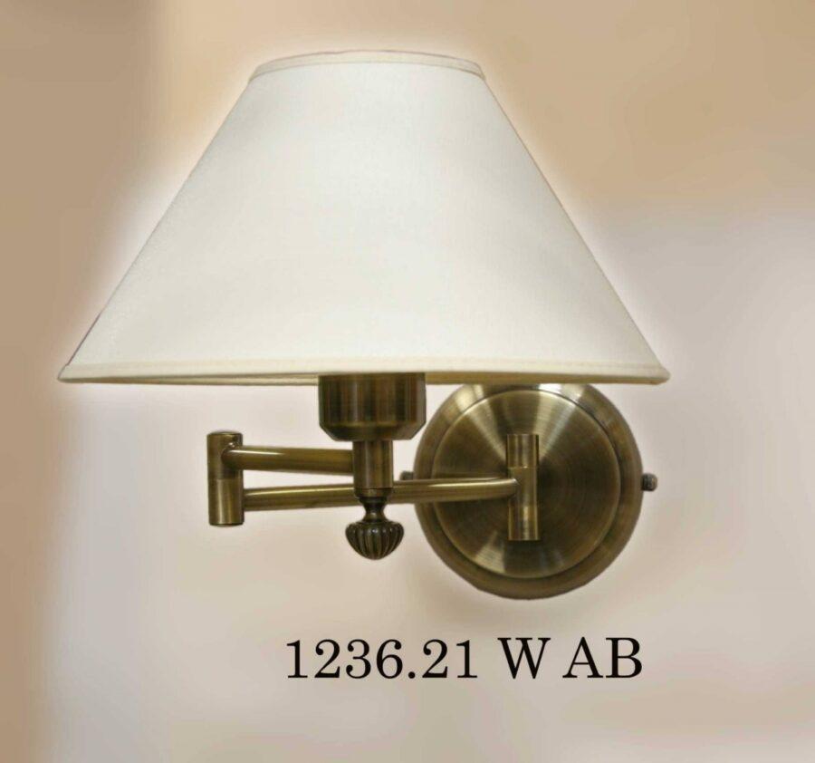 Бра поворотное с абажуром1236-W AB