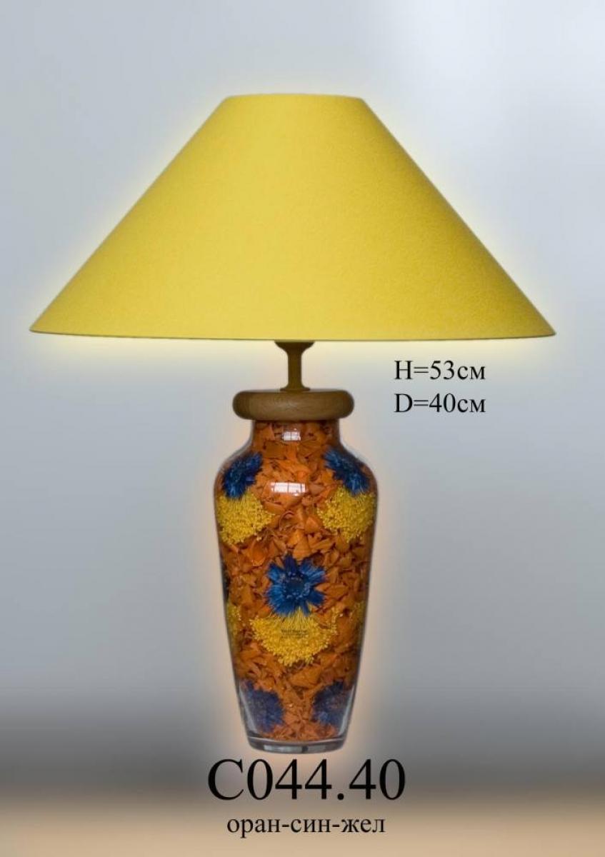 Настольная лампа - Наполнение С044.40 зеленая