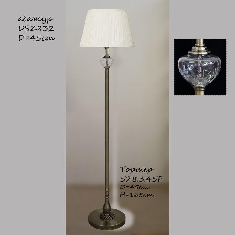 Торшер классика с кристаллом 528.3.45F