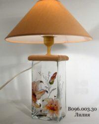 Настольная лампа - Витраж В096.003.30 Н.Л. (Лилия)