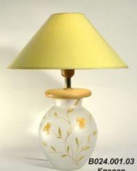 Настольная лампа - Витраж В024.001.30 Н.Л. (клевер)