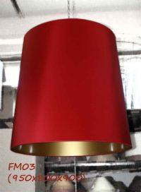 Абажур FM03 красный-золотой