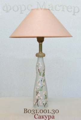 Настольная лампа - Витраж В031.001.30 Н.Л (Сакура)