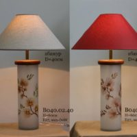 Настольные лампы с витражами на стекле