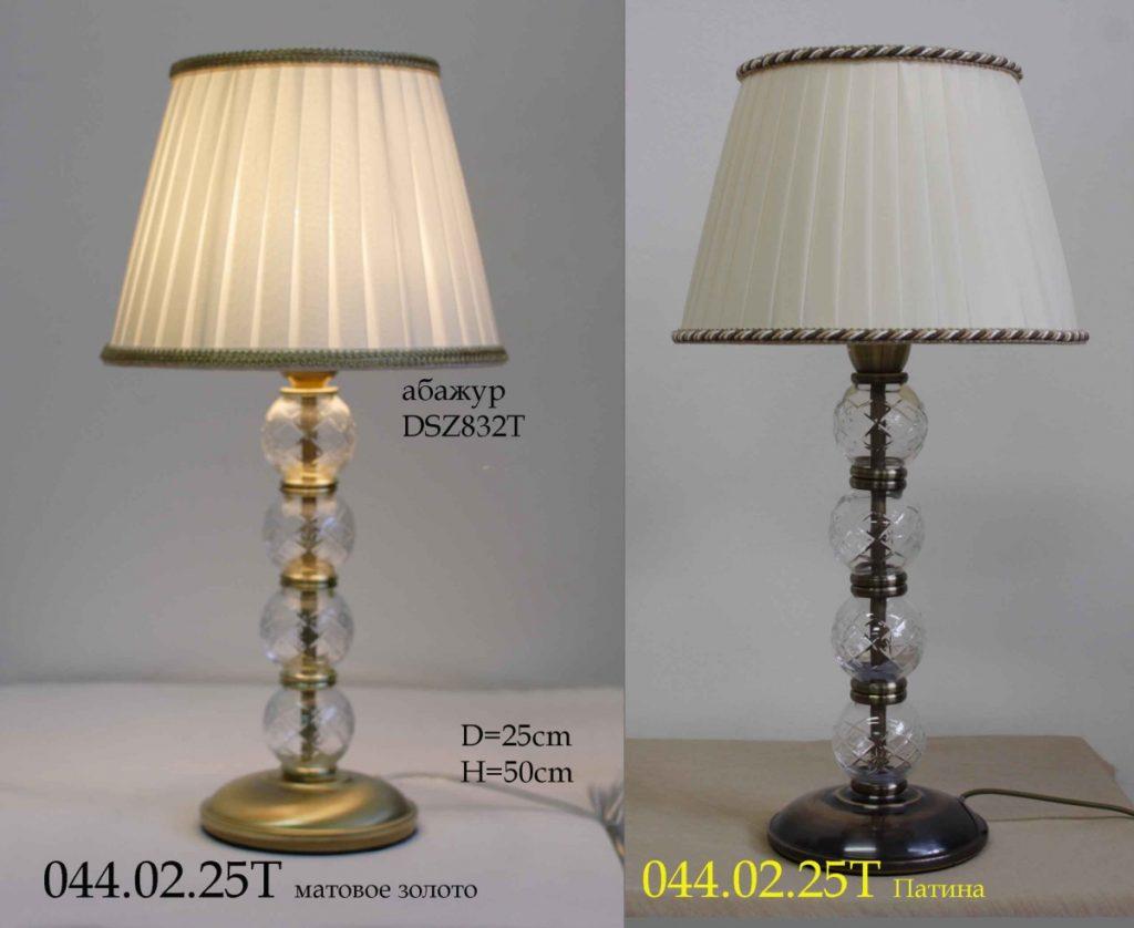 Настольная лампа с шарами из стекла 044.02.25Т классика