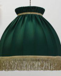 Абажур тканевый Прованс зелен и корич