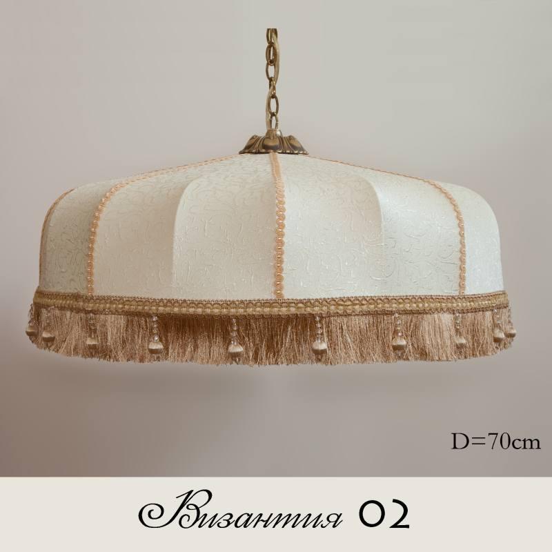 Ретро абажур Византия 02 крем-золото