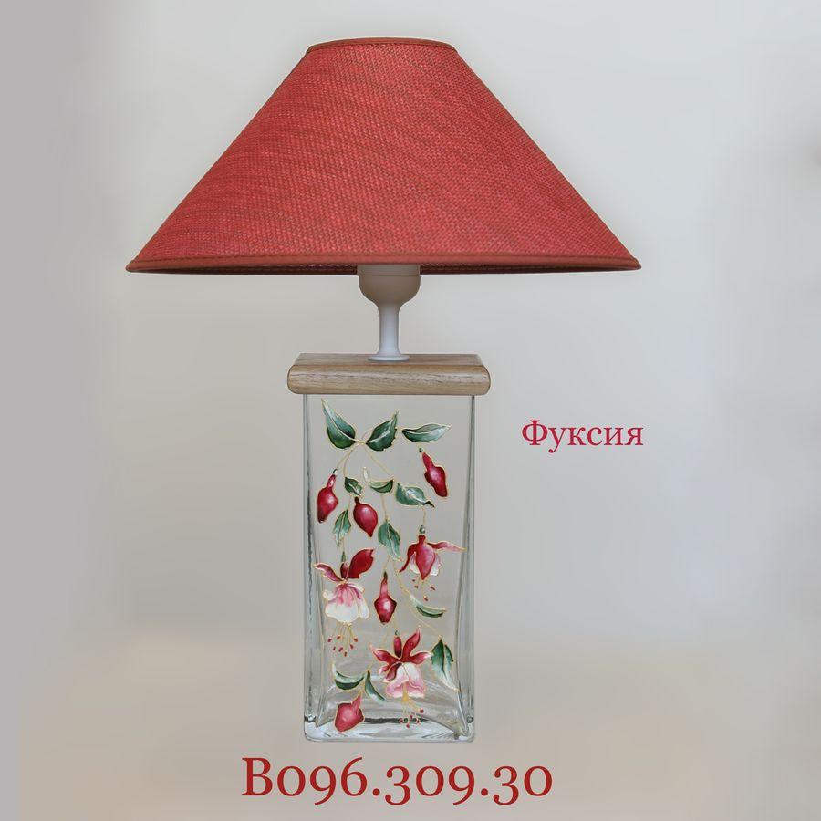 Настольная лампа витраж В096.309.30 Н.Л. (Фуксия)