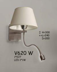Бра с подсветкой для чтения V620 W