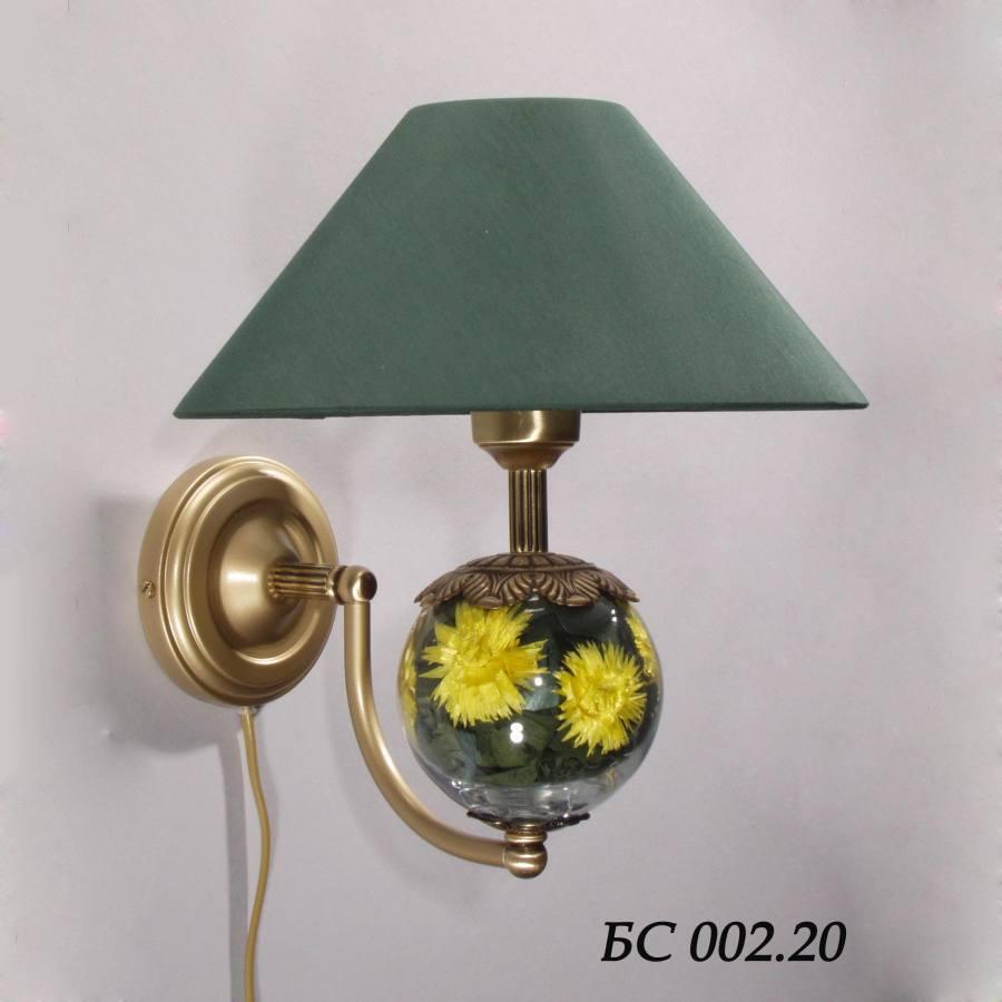 Бра с абажуром и цветами БС002.20