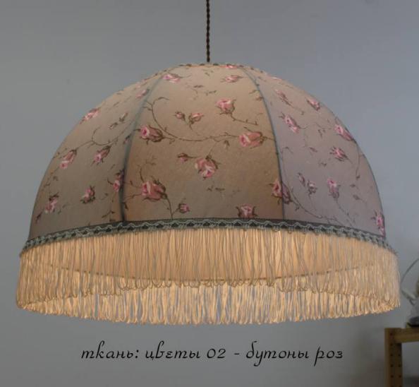 Абажур ретро Фландрия цветы №2