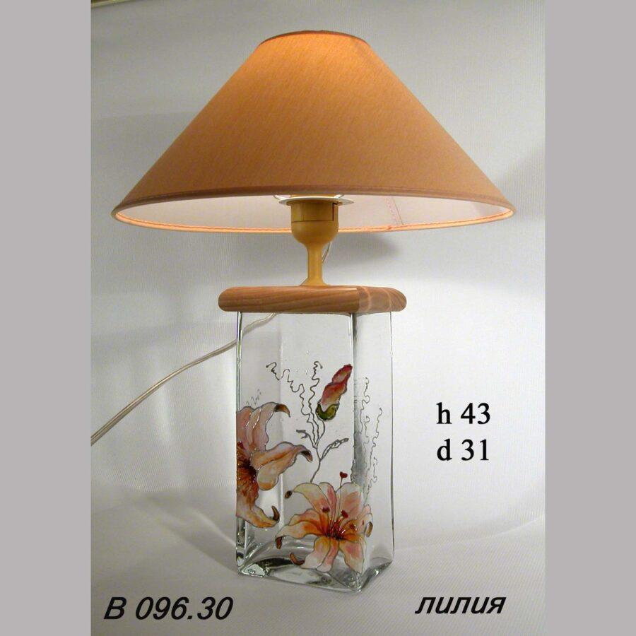 Настольная лампа - Витраж В096.003.30 Лилия