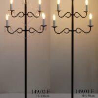 Торшер канделябр с свечами 149.01F и 149.02F