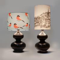 Настольные лампы деревянные