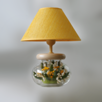Лампы с букетами цветов