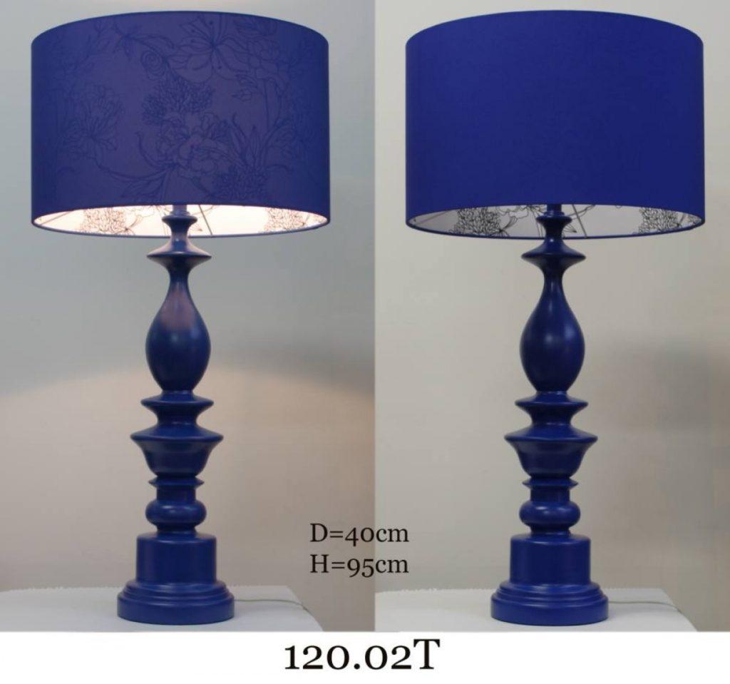 Настольная лампа большая из дерева 120.02Т