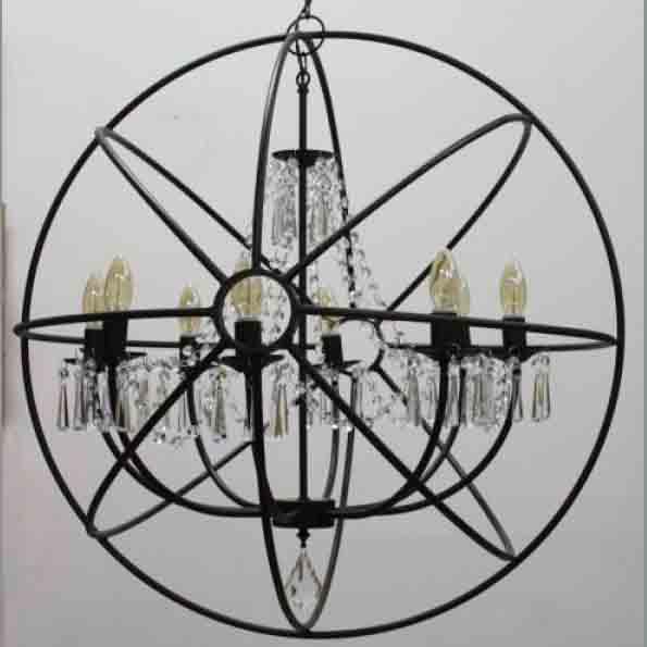 Люстра глобус с хрусталём ЛК047.02