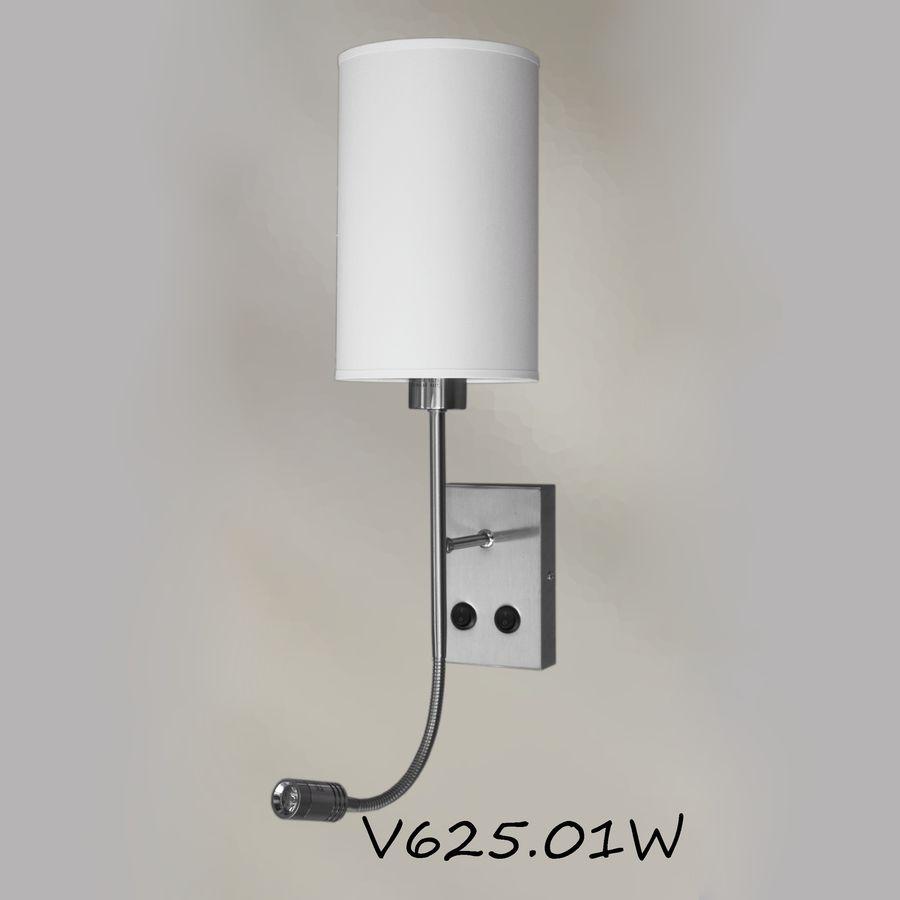 Бра прикроватное с двумя лампами - отель V625W