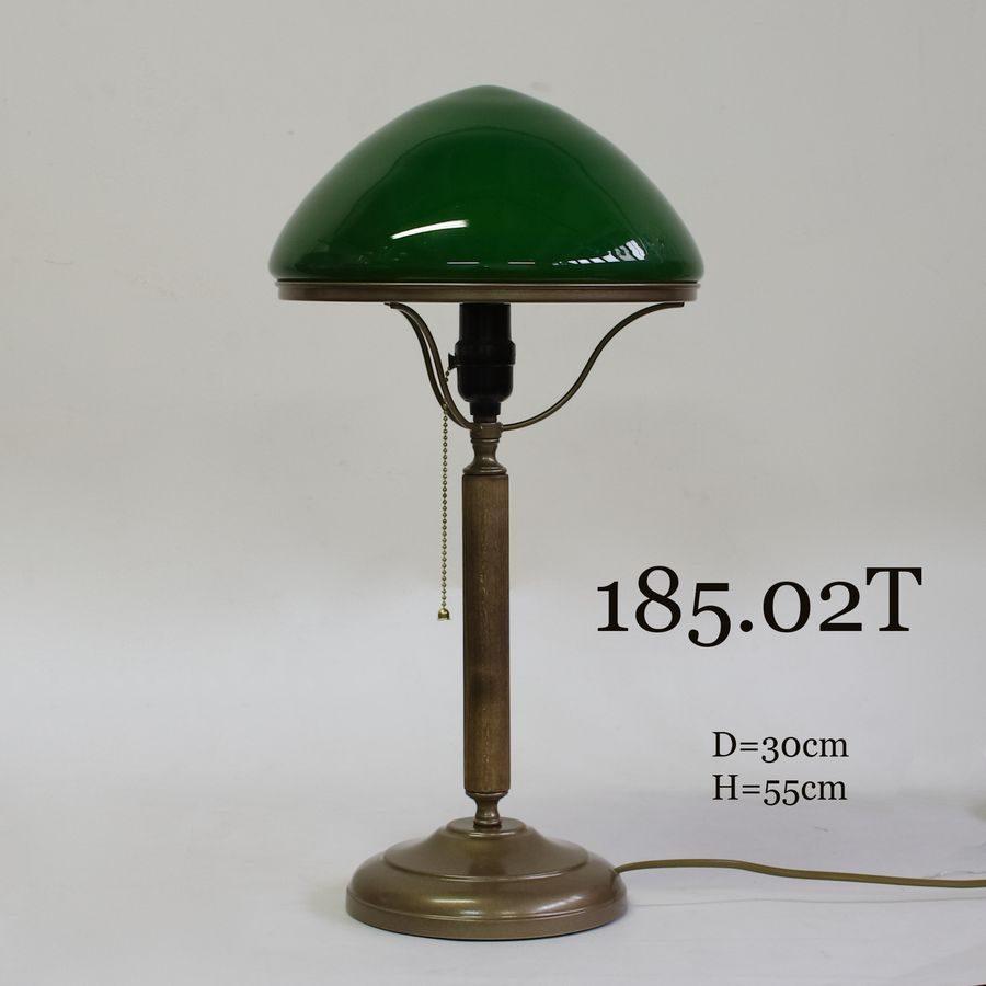 Настольная лампа с зеленым стеклом 185.02Т