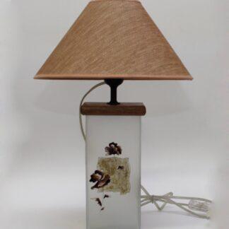В096.03.30 Цветы в квадрате (коричневый) Настольная лампа