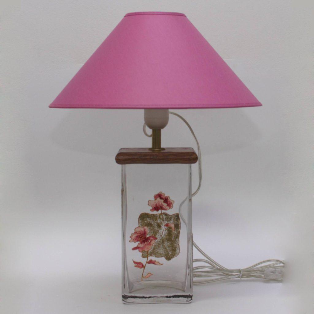 В096.05.30 Цветы в квадрате (сиреневый) Настольная лампа