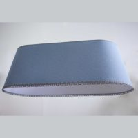 Большой абажур овал голубой 110х40 Н40