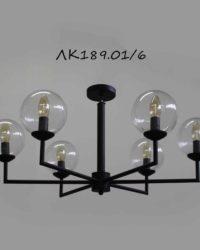 Люстра со стеклянными шарами ЛК189.01/6 в стиле лофт
