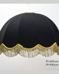 Абажур тканевый Домашний черный с золотом