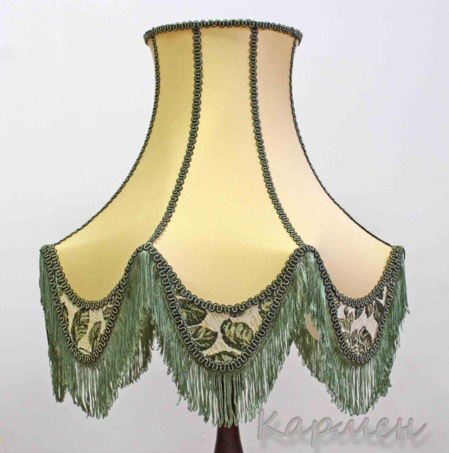 "Абажур из ткани ""Кармен"" светло зеленый"