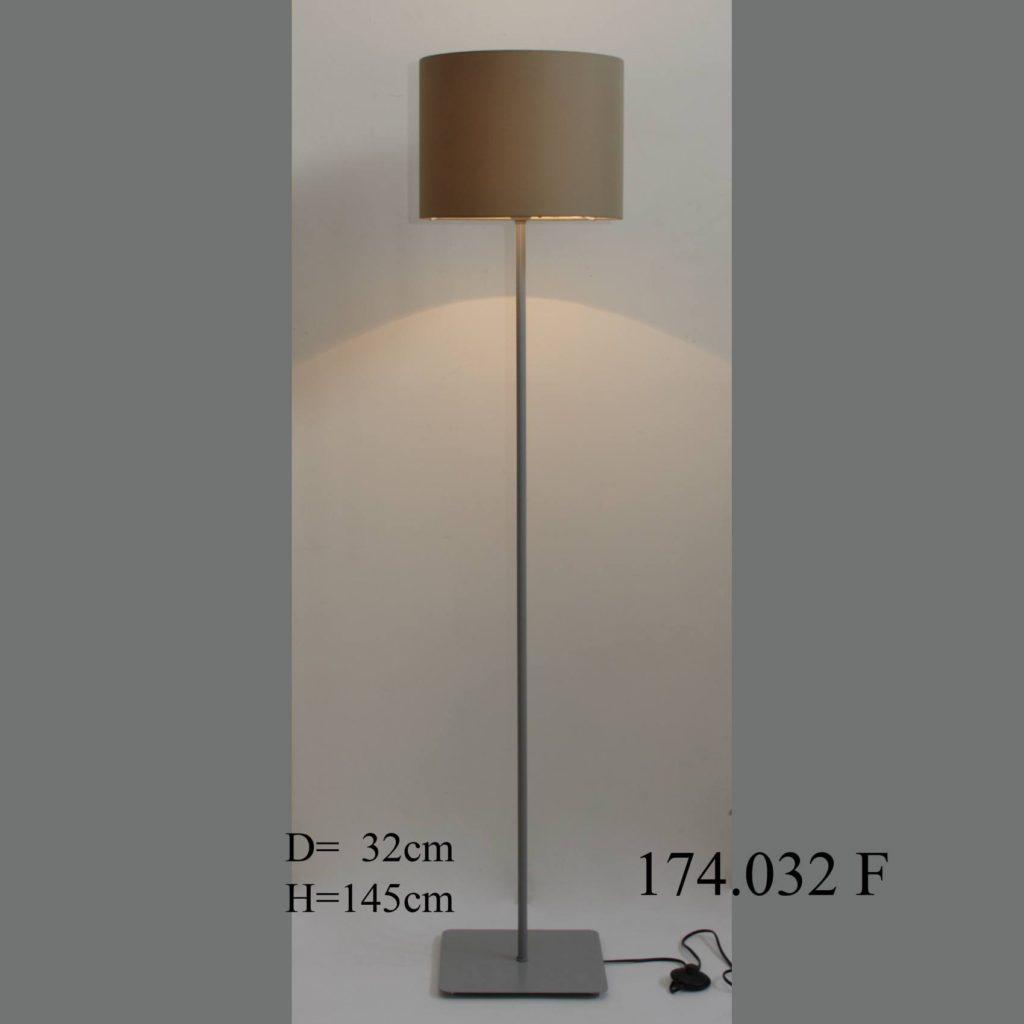 Торшер современный с абажуром из ткани 174.032F