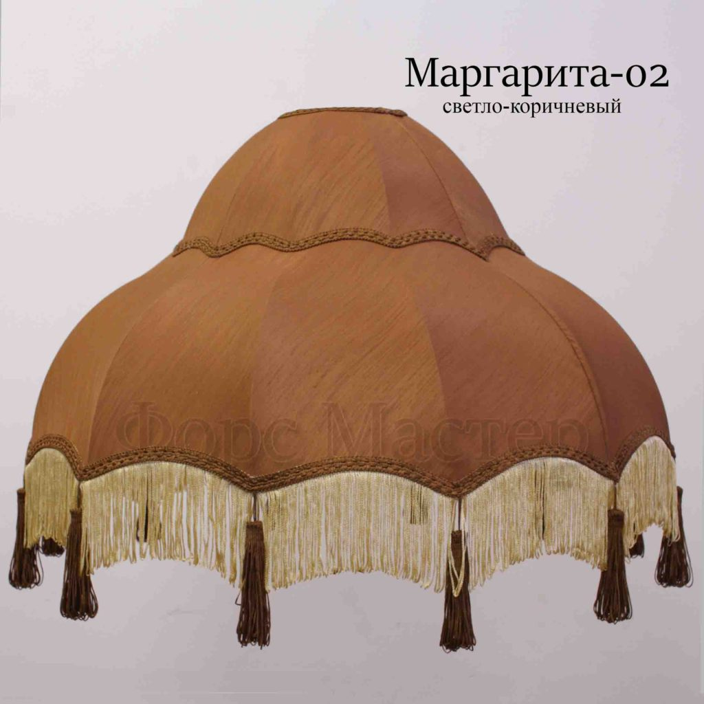 Тканевый ретро абажур Маргарита-02