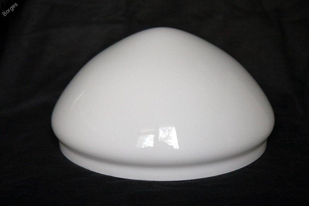 Плафон для настольной лампы стеклянный белый глянцевый