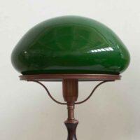 Зеленый плафон D32см