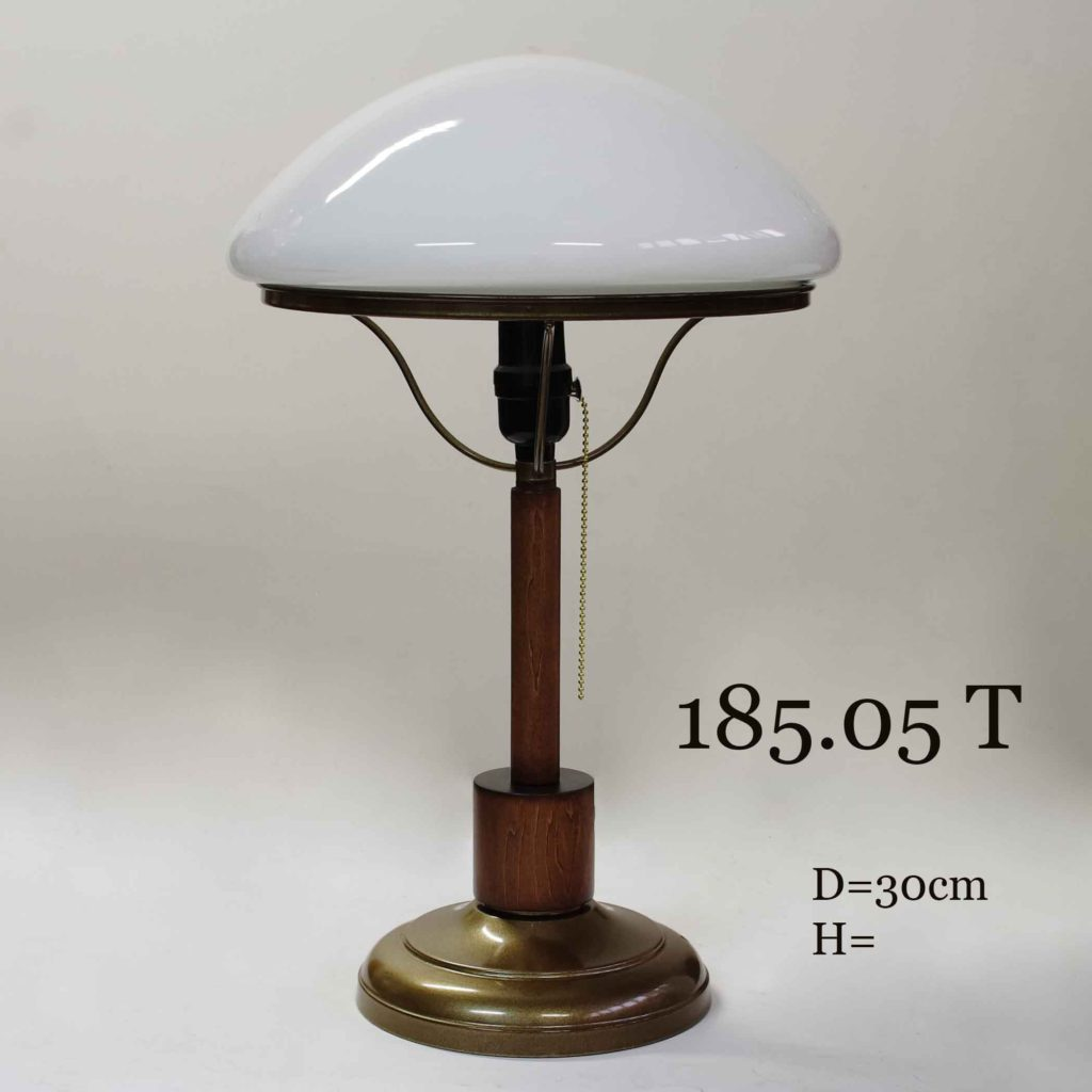 Настольная лампа с зеленым стеклом для библиотеки 185.05 Т