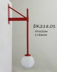 Бра красное с плафоном БК218.01