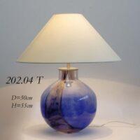 Настольная лампа из стекла 202.04Т голубая